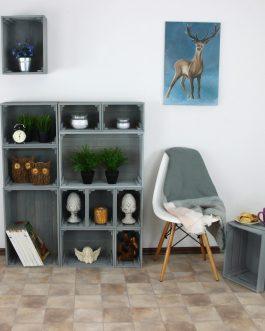 Medinės dėžės – pilkos
