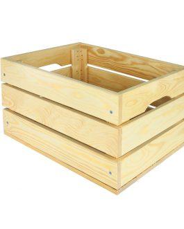Medinės dėžės - lentynos