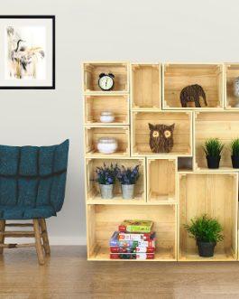 Medinės dėžės – natūralios spalvos